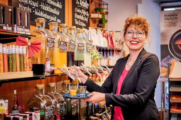 Karin Eidinger, Geschäftsführerin des Fachgeschäfts Thaller in Pilsting